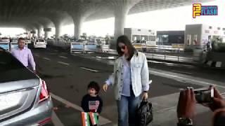 Kareena Kapoor Khan With Cute Taimur Ali Khan Spotted At International Airport