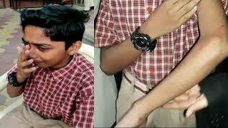 Teacher Beats Student Badly | Case Booked On Teacher Under Guddimalkapur | @ SACH NEWS |