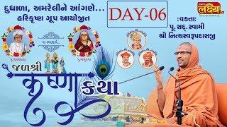 Jal Shree Krushna Katha || Pu.Shree Nityaswarupdasji Swami || Dudhala,Amreli || Day 6