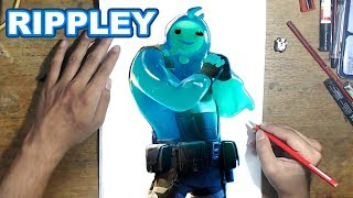 FORTNITE Drawing RIPPLEY - How to Draw RIPPLEY | Step-by-Step Tutorial - Fortnite Chapter 2