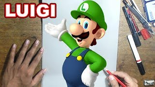 LUIGI'S MANSION 3 Drawing LUIGI - How to Draw LUIGI | Step-by-Step Tutorial - LUIGI's MANSION 3