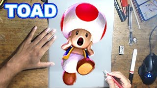 LUIGI'S MANSION 3 Drawing TOAD - How to Draw TOAD | Step-by-Step Tutorial - LUIGI's MANSION 3
