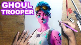 FORTNITE Drawing GHOUL TROOPER - How to Draw GHOUL TROOPER | Step-by-Step Tutorial - Fortnite