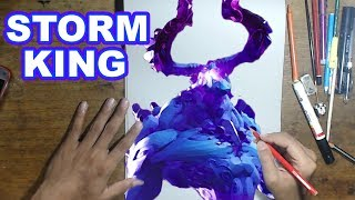 FORTNITE Drawing STORM KING - How to Draw STORM KING | Step-by-Step Tutorial - Fortnite