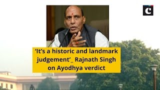 'It's a historic and landmark judgement': Rajnath Singh on Ayodhya verdict
