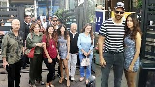 Hrithik Roshan Rakesh Roshan And Whole Family Celebrating Pashmina Roshan Birthday At Yauatcha BKC