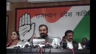 Economy Crisis: AICC Press Briefing By Shaktisinh Gohil in Gujarat