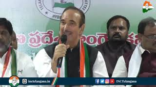 Economic Crisis: Ghulam Nabi Azad addresses media in Hyderabad, Telangana