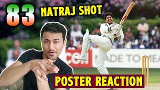 83 Movie | New Poster Reaction | REVIEW | Natraj Shot | Ranveer Singh, Kapil Dev