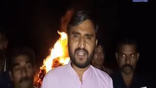 keshod    The farmers burned the crop when the crop failed   ABTAK MEDIA