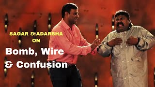 Bomb, Wire & Confusion | Standup Comedy by Sagar & Adarsha | Cafe Marathi Comedy Champ 2019