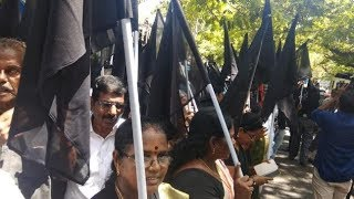 Black Flags To The CM & Team If Potholes Don't Go Away In 10 Days!