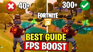 FORTNITE Chapter 2: Boost FPS / Best Performance Secret Settings in Fortnite