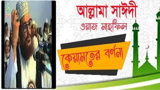 Allama Delwar Hossain Saidi Bangla Waz Mahfil | কেয়ামতের বর্ননা নিয়ে সাঈদীর ওয়াজ । Saidi Best Waz
