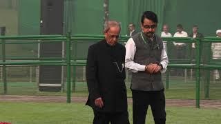 Former President Pranab Mukherjee pays homage to former PM Pt. Nehru's birth anniversary
