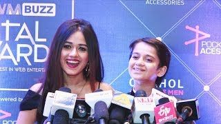TikTok Stars Jannat Zubair And Ayaan Zubair At MTV IWMBuzz Digital Awards | Red Carpet