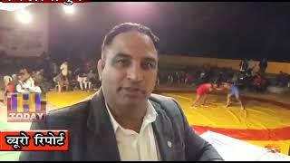 13 NOV N 4  कुश्ती प्रतियोगिता के शुभारंभ अवसर पर  समाजसेवी संजय कौशल ने शिरकत की