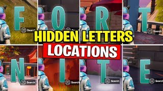 COLLECT F-O-R-T-N-I-T-E LETTERS HIDDEN in Loading Screen Fortnite | TamashaBera