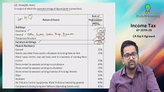 Depreciation under Income Tax Act by CA Raj K Agrawal