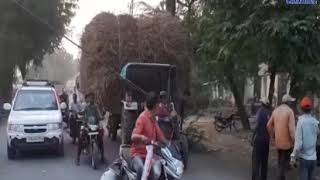 Una | An electric pole fell on a tractor near the Una-Railway Gate | ABTAK MEDIA
