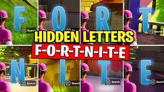 COLLECT F-O-R-T-N-I-T-E LETTERS - Search HIDDEN Letters in Loading Screen Fortnite | TamashaBera