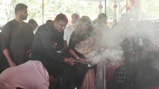 Challenging Star Darshan Giving Arathi to Ambareesh || ಅಂಬಿ ಪುಣ್ಯ ತಿಥಿಯಲ್ಲಿ ಡಿ ಬಾಸ್