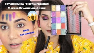 Makeup Revolution Reloaded Passion for color Palette + Lakme Absolute Mascara Review | Nidhi Katiyar