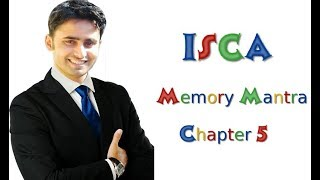 ISCA 01 Chapter 5 Mind Candy Memory Mantra || Abhinav Jha CA CS ||  DT AND IDT Videos ||