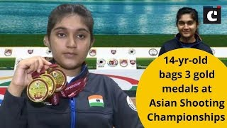 14-yr-old bags 3 gold medals at Asian Shooting Championships