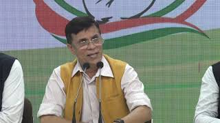 Household Consumer Expenditure and Kashmir issue: AICC Press Briefing by Pawan Khera at Congress HQ