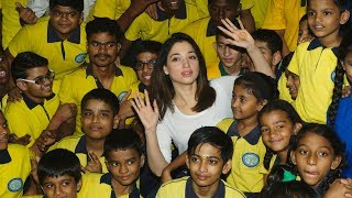 Tamannaah Bhatia Celebrates Children's Day With Visually And Hearing Impaired Children