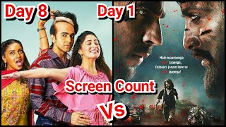 Bala Vs Marjaavaan Collection On Day 8 And Day 1
