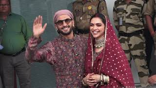 Ranveer Singh - Deepika Padikone Back From Anniversary Celebration