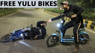 Nightout On Yulu Bikes - Free Bike Rent Tricks????