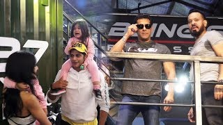 Karanvir And Teejay With Kids At Salman Khan's Being Strong Fitness Equipment Launch