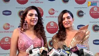 Kundali Bhagya Team Anjum Fakih,Ruhi Chaturvedi,Sanjay, Abhishek At Zee Rishtey Awards 2019