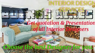 BUENOS AIRES    INTERIOR DESIGN SERVICES 》 QUOTATION AND PRESENTATION ♡Living Room ♧Tips ■Bedroom □■