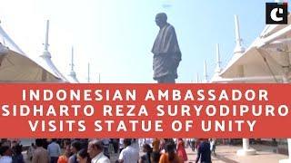 Indonesian Ambassador Sidharto Reza Suryodipuro visits Statue of Unity