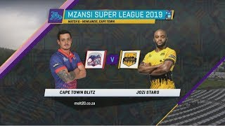MSL 2019: Match 6, Cape Town Blitz vs Jozi Stars, Highlights