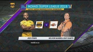 MSL 2019: Match 8, Jozi Stars vs NMB Giants, Highlights.
