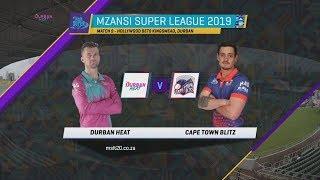 MSL 2019, Match 9: Durban Heat vs Cape Town Blitz, Highlights
