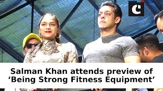 Salman Khan attends preview of 'Being Strong Fitness Equipment'
