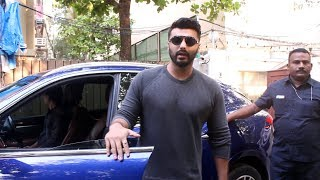 Caring Arjun Kapoor Respecting Paparazzi While He Leaves From Dubbing Studio At Juhu