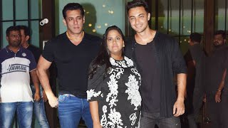 Salman Khan At Arpita And Ayush Sharma's Wedding Anniversary Party