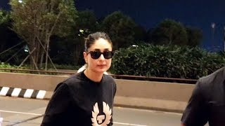 Good Newwz Actress Kareena Kapoor Khan Spotted At Mumbai Airport