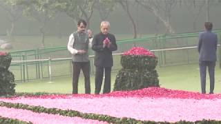 Former President Shri Pranab Mukherjee pay tributes to Indira Gandhi Ji on her 102 birth anniversary