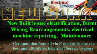 NEW YORK    Electrical Services 》Home Service by Electricians ☆ New Built House electrification
