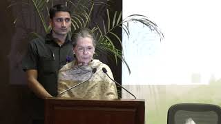 Congress President Smt. Sonia Gandhi Speech at Indira Gandhi Prize for Peace