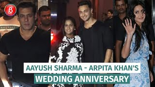 Salman Khan, Katrina Kaif Attend Arpita Khan-Aayush Sharma's Wedding Anniversary