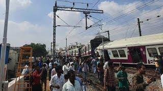 Train Accident In Hyderabad | 2 Trains On Same Track | Malakpet And Kachiguda Track | @ SACH NEWS |